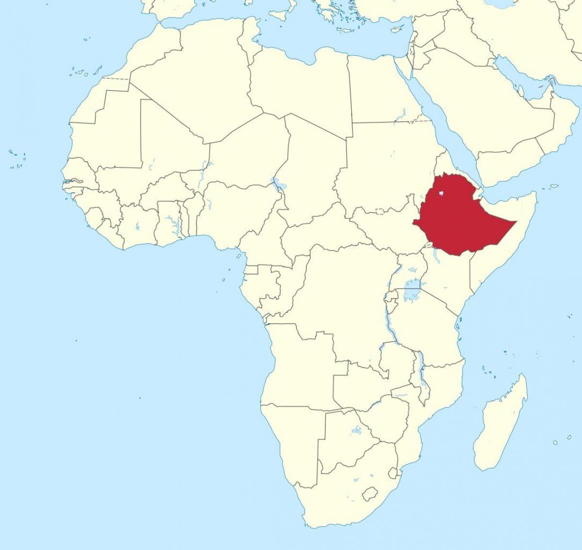 etiopia kart Etiopia kart afrika   Kart over afrika som viser Etiopia (Øst  etiopia kart