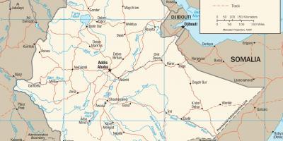 kart etiopia Etiopia kart   Kart Etiopia (Øst Afrika   Afrika)